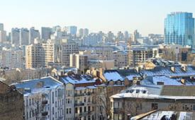 UNBELIVEABLE VIEW OF KYIV IS FROM CAMPUS BUILDING